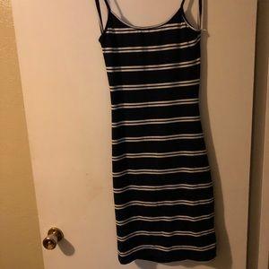 Dresses & Skirts - Backless dark blue and white striped dress